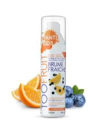 Too Fruit Brume Faiche Eau De Fruits Bio Enfants Orange Myrtille