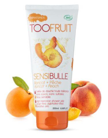 Too Fruit Sensibulle Gelee Douche Bio Enfants Abricot Peche