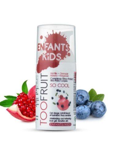 Too Fruit So Cool Gel Visage Bio Enfants Myrtille Grenade